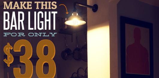 DIY Pipe light sconce