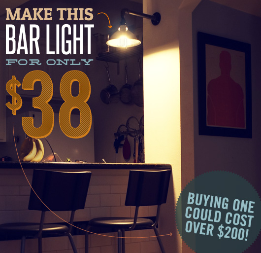 The Intentional Apartment: Make This Bar Light for Only $38