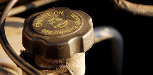 Close up of engine oil cap