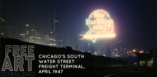 Free Art Download: Chicago's South Water Street Freight Terminal, April 1947