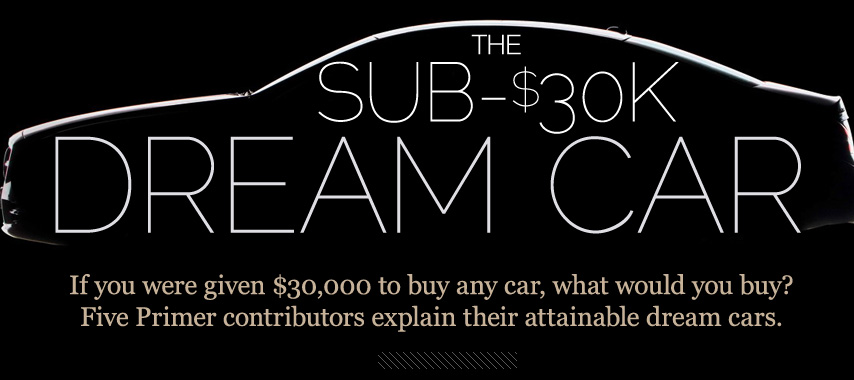 Sub $30000 Dream Car header image