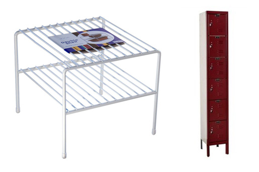 Metal side table and cabinet