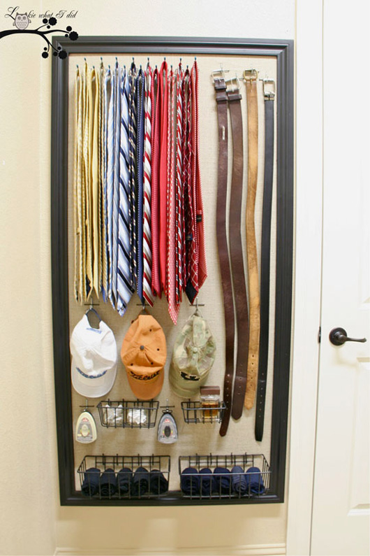 An organized tie rack