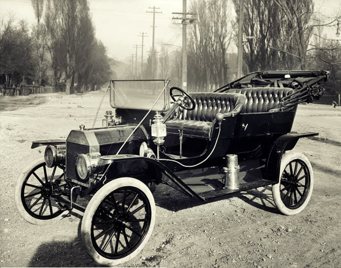 An advertisement for the Model T in 1910.