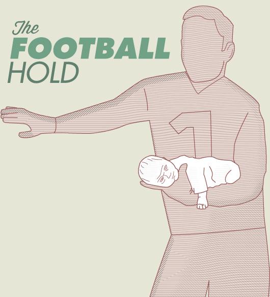 football baby hold