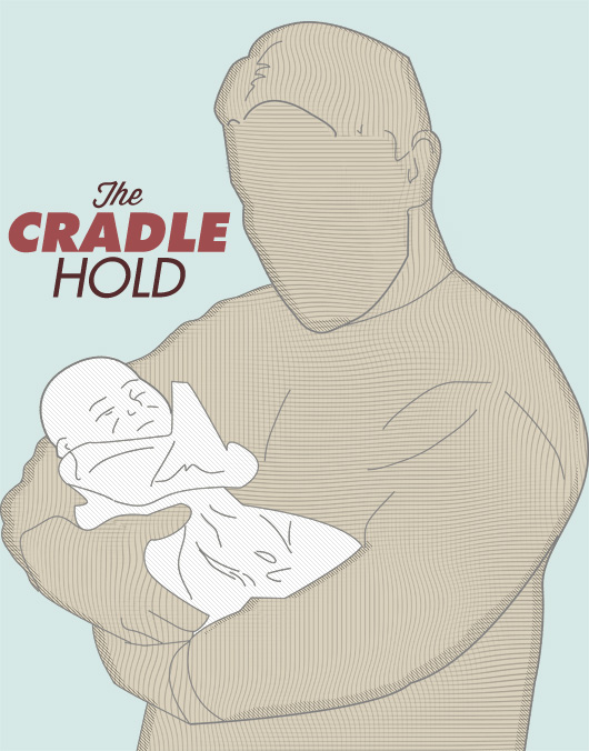 Diagram of the cradle hold for baby