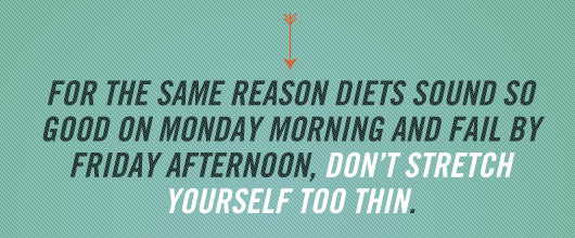 Article Text Inset - Same Reason Diets sound so good on monday morning and fail by friday afternoon