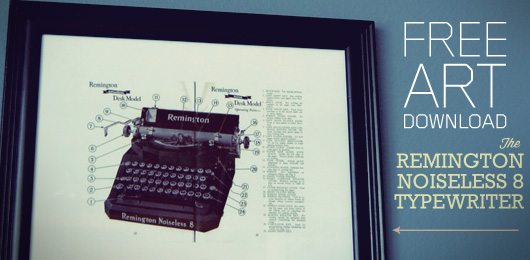 Free Art Download: The Remington Noiseless 8 Typewriter