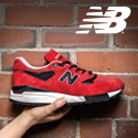 New Balance shoe and logo