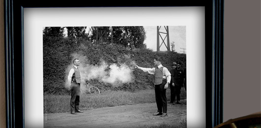 Free Art Download: Testing a Bulletproof Vest, 1923
