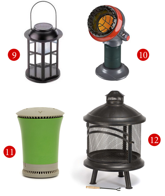 Small patio or balcony accessories