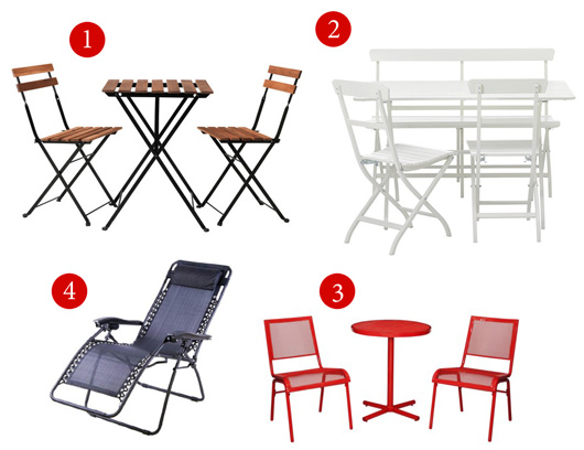 Patio furniture for small balcony