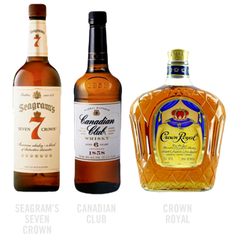 common canadian whisky brands