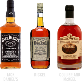 common types of tennessee whiskey