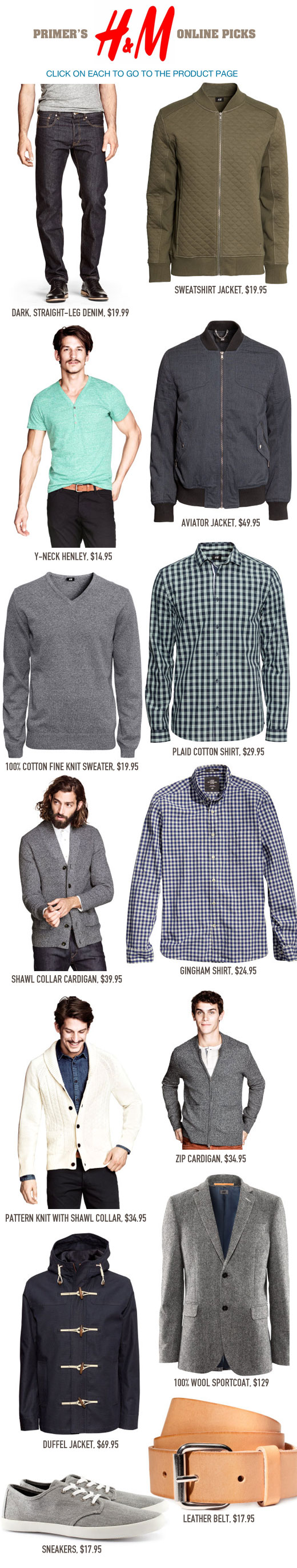 Collage of picks from H&M