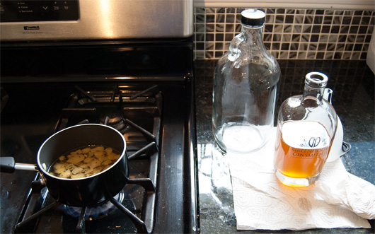 Boiling homemade bitters