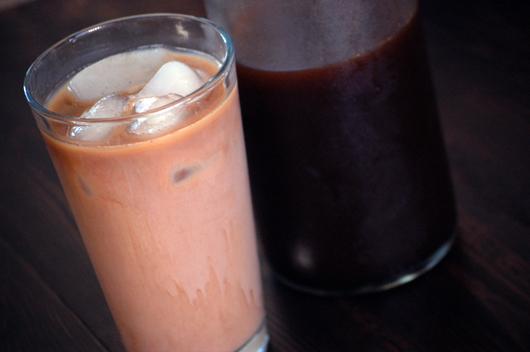 homemade iced mocha latte