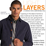 Light Layers: 21 Choices for a Comfortable Fall