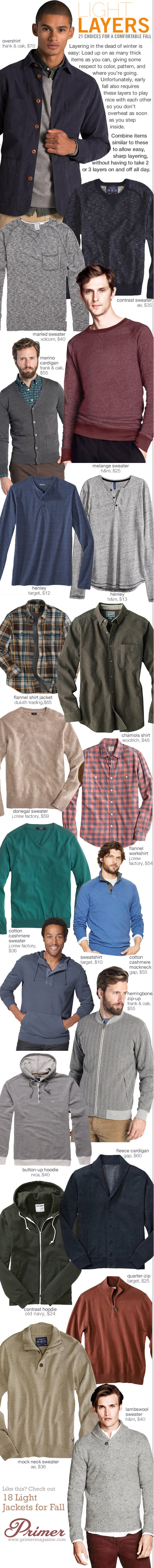 Collage of 21 options for light layers