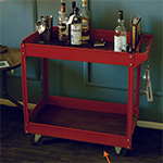 Make This DIY Industrial Bar Cart for Less Than $40