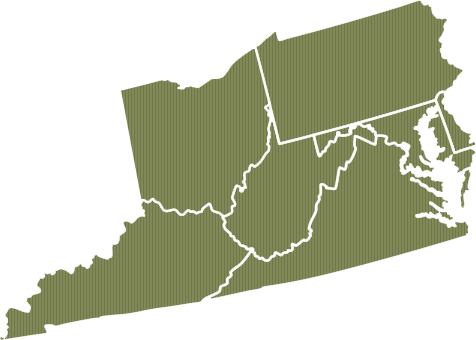 Mid Eastern Region map