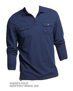 Blue pocket polo