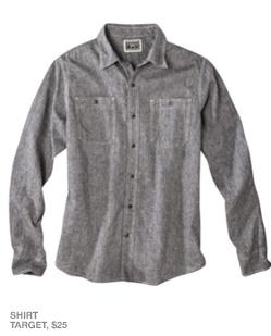 Gray chambray shirt