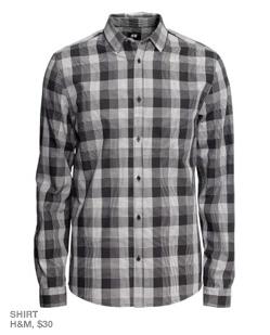 Gray plaid shirt