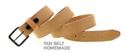 tan belt homemade