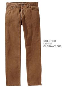 Brown denim pants