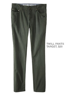 Twill pants from Target