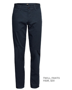 Twill pants from H&M