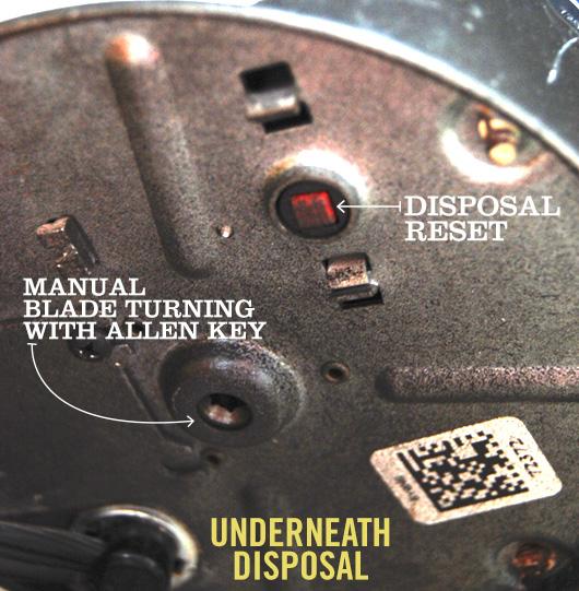 Underneath disposal diagram
