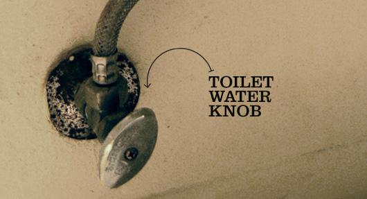 toilet water knob