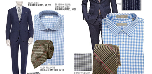 """Look For Less: GQ's """"Brown + Blue = The New You""""  – November '13"""