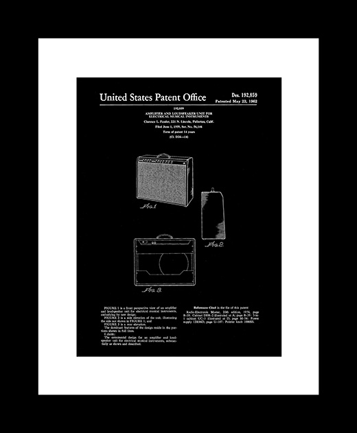 Amplifier patent art print