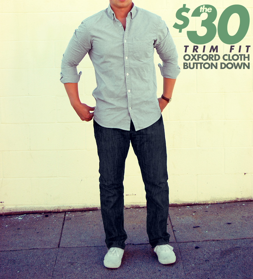 affordable $30 slim fit oxford cloth button down from 20jeans