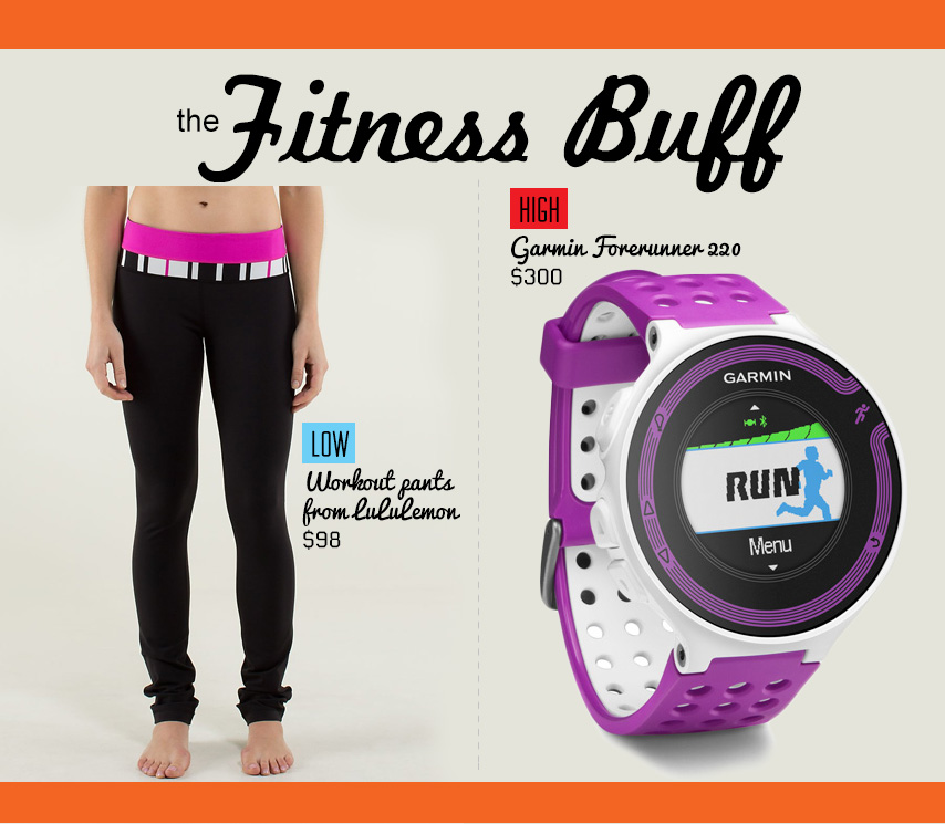 The fitness buff gift ideas collage