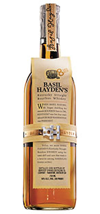 Bottle o Basil Hayden whiskey