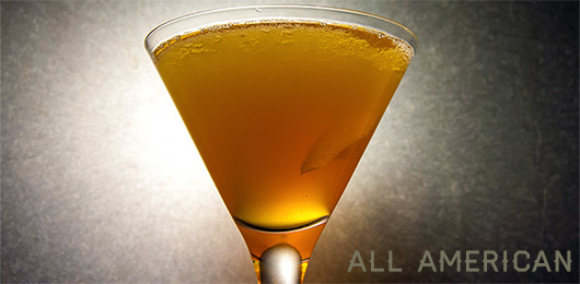 The All American Cocktail Recipe: A Slightly Sweet Bourbon Cocktail