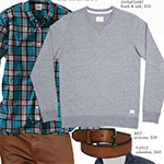 The Getup: Sweatshirt, Jeans, and Sneakers