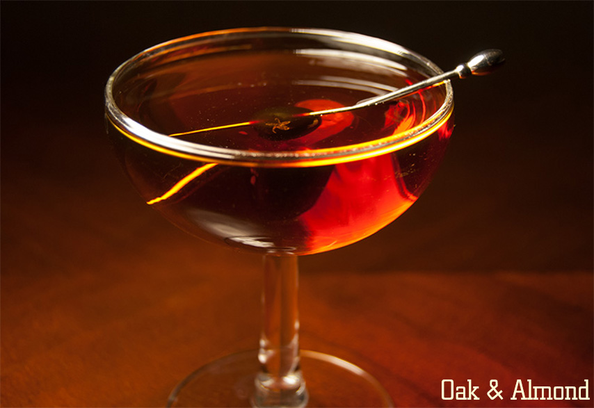 oak and almond cocktail recipe
