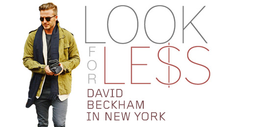 Look for Less: David Beckham in New York