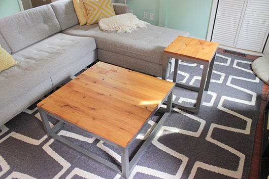 Modern Coffee Table And Matching End Tables The Intentional Apartment 7 DIY Furniture  Projects Primer