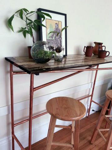 diy apartment furniture. Easy Copper Pipe And Reclaimed Wood Table Diy Apartment Furniture M