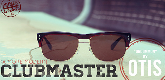 "A More Modern Clubmaster: ""Uncommon"" Sunglasses by Otis Eyewear"