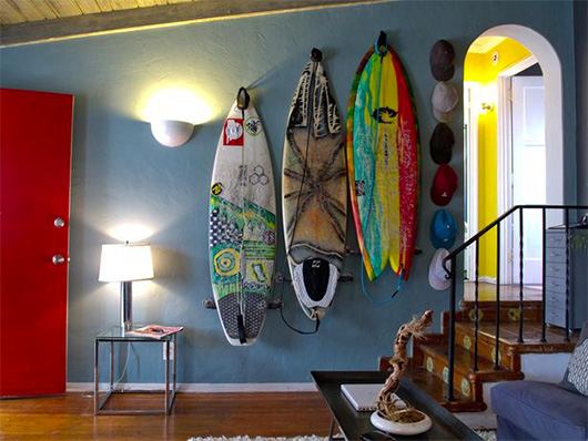 The intentional apartment integrating your gear gadgets for Surf decoration