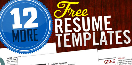 12 more free resume templates