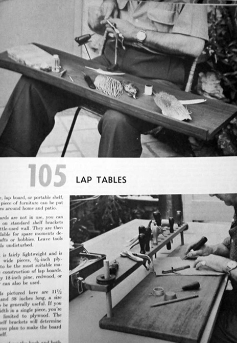 Lap tables vintage magazine