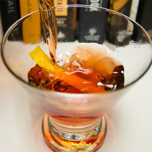 cabaret variant cocktail in a glass